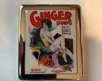 Vintage Magazine Funny 8 Day Pill Box with Mirror