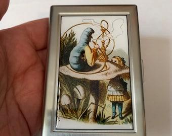 Alice In Wonderland Hookah Smoking Caterpillar Card Case or Wallet