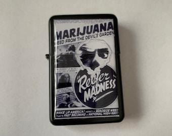 Marijuana Vintage Poster Refillable Lighter