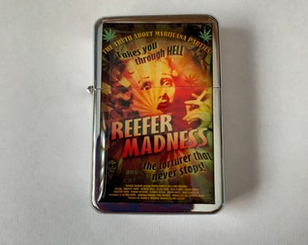 Marijuana Vintage Poster Refillable Lighter Reefer Madness