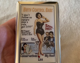 Birth Control Babe Wallet or Business Card or Card Case
