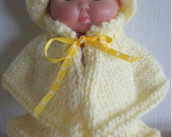 71a0278dafc78 Knitting Pattern Springtime Cape   Skirt Set 5 inch Chubby Berenguer Baby  Dolls WG320 doll clothes
