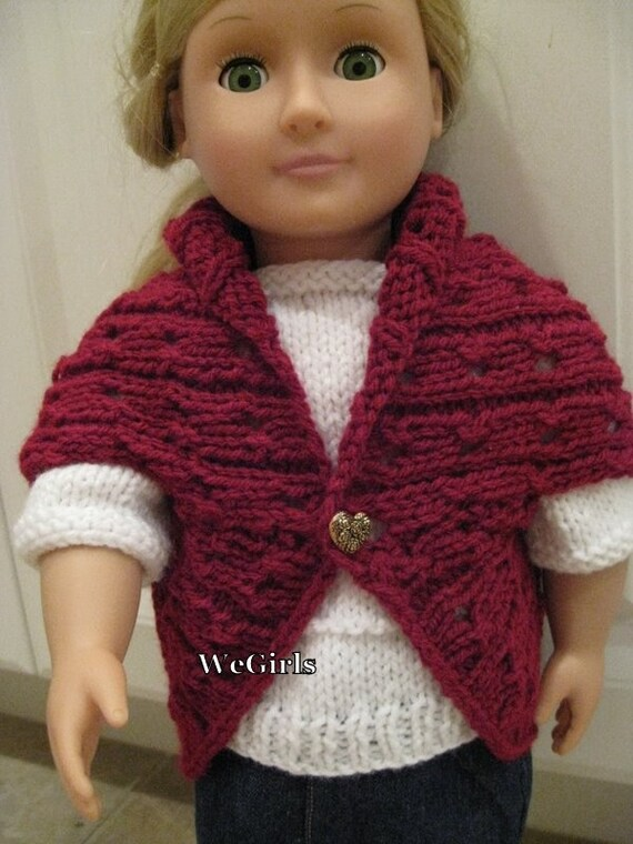 Knit Pattern For 18 Inch American Girl Dolls Turtleback Etsy