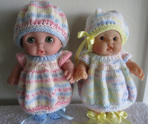 Baby Doll Knitting Pattern Bubble Dress Set For 8 Inch Lots To Etsy