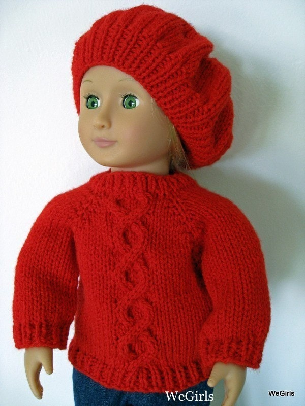Knitting Pattern for 18 inch American Girl Doll Twisted ...