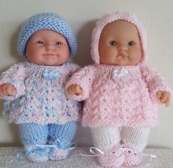 Berenguer Baby Doll Knit Pattern Angel Top Pram Set For 8 Inch Etsy