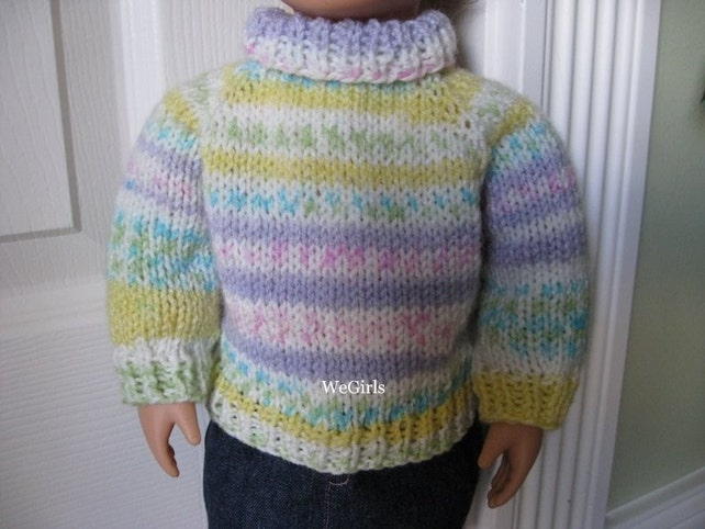 10d661186e22e Knitting Pattern for 18 inch American Girl Doll .... Easy Top