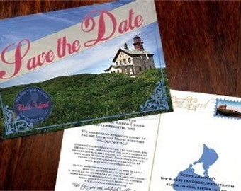 Custom Vintage Postcard Save the Date