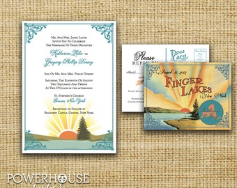 Finger Lakes Wedding Invitation