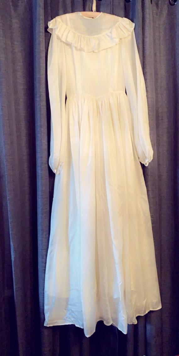 Vintage 1940's handmade wedding dress.