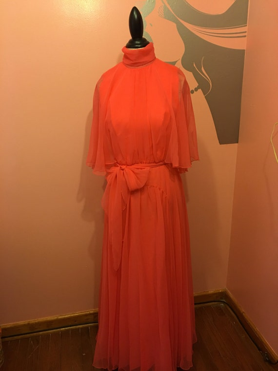 Vintage 70's long organza gown