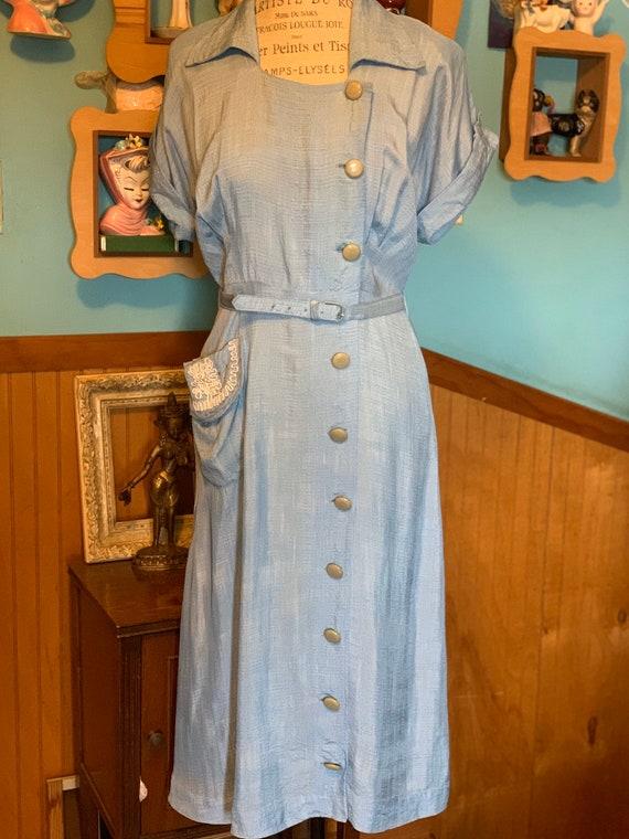 Vintage light blue dress