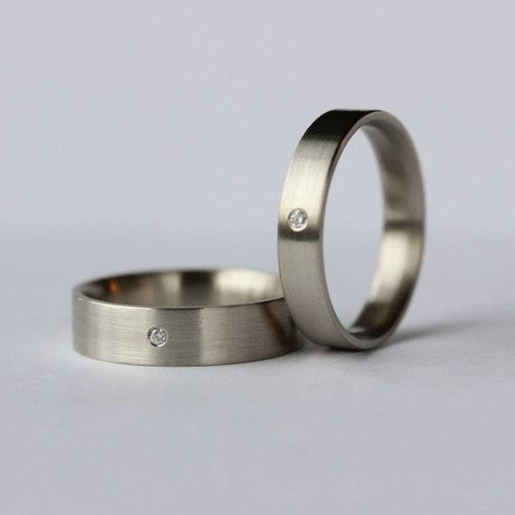Mens Engagement Ring Set Simple Gold Ring Mens Wedding Etsy