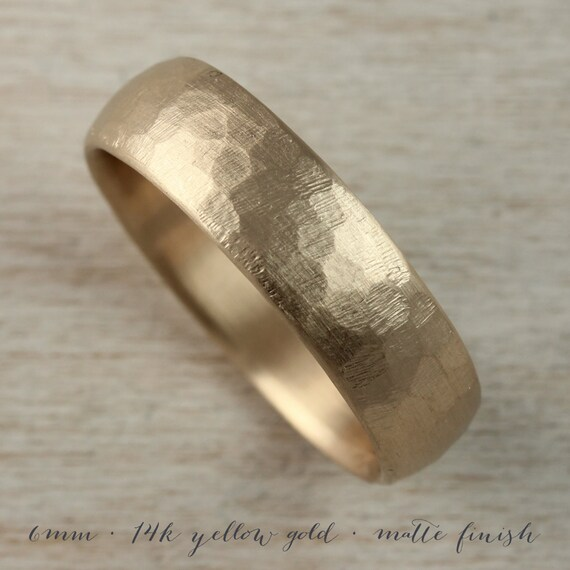 6mm Or 8mm Stone Texture Hand Carved Classic Mens Wedding Band Etsy