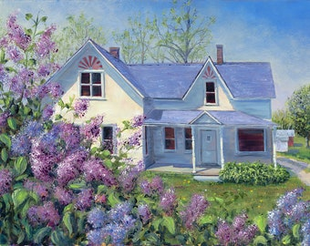 Thoreson Lilacs in Bloom