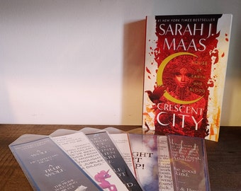LARGE Handcrafted Bookmarks inspired by the Crescent City Series by Sarah J Maas