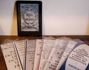 LARGE Handcrafted bookmarks inspired by King of Scars duology BY Leigh Bardugo