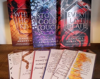 LARGE Handcrafted Bookmarks inspired by the Dark Elements series written by Jennifer L Armentrout