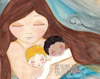 ADOPTION Wall Art Print, Adoption Art, Adoption Print, Nursery Decor