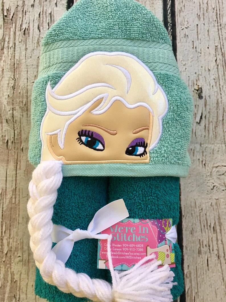 Elsa Hooded Towel Frozen Towel Bath Towel Beach Towel Pool Etsy