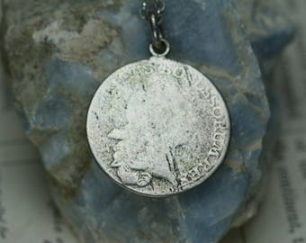 Antique 1765 Prussian Coin Pendant - 1/6 Reichsthaler - Silver