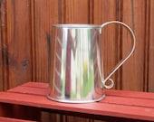 18th century tin tankard - Natural tin finish - tin cup - reenactor - colonial tin - early american - camping cup - reenactor gift