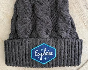 Explorer Chunky Knit Toque with Pom