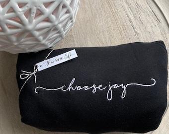 Choose Joy Favorite Crewneck - Black Bella + Canvas Cozy Sweater