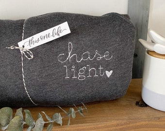 Chase Light Favorite Crewneck -Bella + Canvas Cozy Embroidered Sweater
