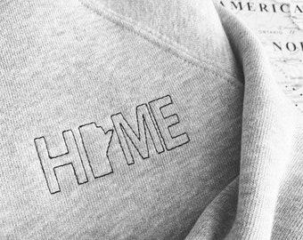 Manitoba Home Favorite Crewneck -Athletic Heather Grey Bella + Canvas Cozy Embroidered Sweater