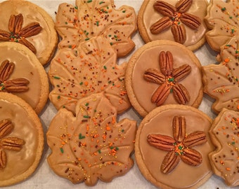 Maple Walnut Cookies-maple pecan cookies-fall cookies-thanksgiving cookies-autumn cookies-maple-jumbo cookies- fall cookies-maple walnut