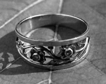 ring, silver pierced