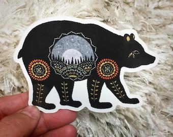 Bear Vinyl Sticker
