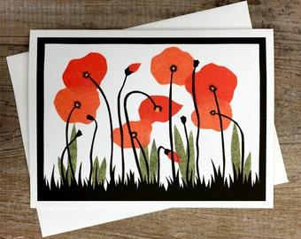 Poppy Field - Greeting Card