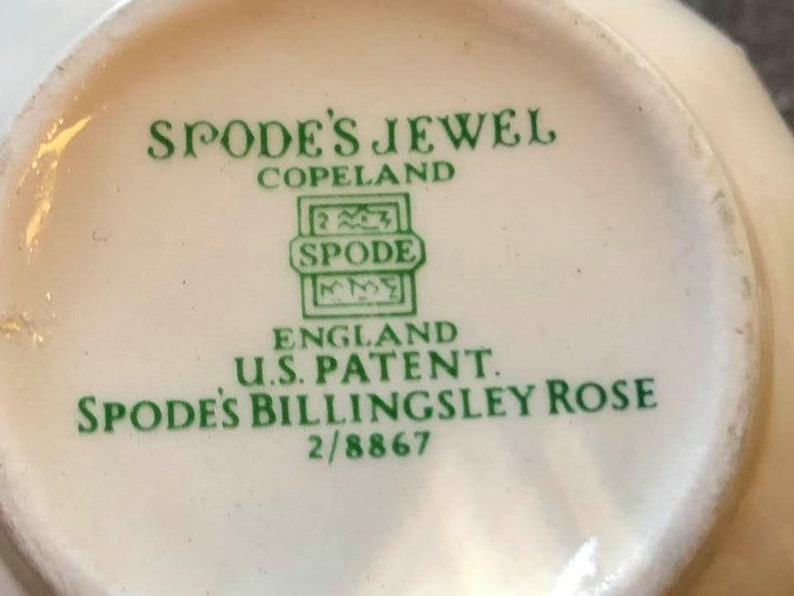 Spode Billingsley Rose Tea Cup Pink Jewel Crafted in England Flat Cup