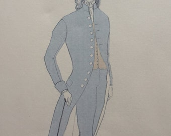 1790s Fraque pattern - frockcoat