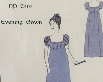 1805-1815 Regency Evening Gown Pattern