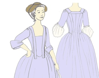 Open Robe 1730-1760 pattern