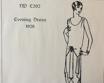 1928 Evening Dress - a flapper dress pattern