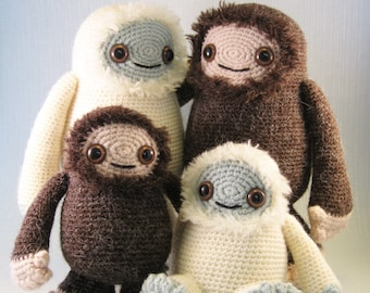 Yeti and Bigfoot Amigurumi Pattern PDF - Crochet Pattern - now with added Adorable Monsters!