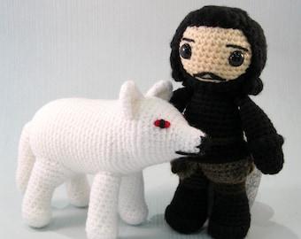 Jon Snow and Direwolf Amigurumi Patterns PDF - Crochet Patterns