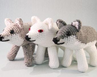 Wolf and Direwolf Amigurumi Pattern PDF - Crochet Pattern