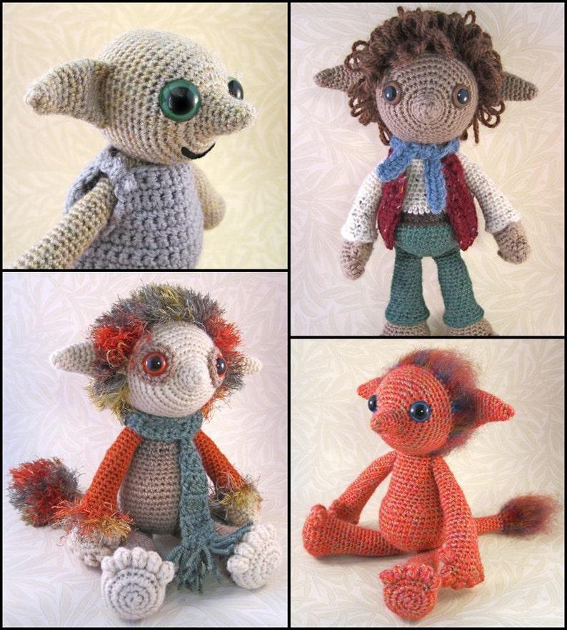 Little Folk Amigurumi Pattern PDF  Elf Fairy Sprite Crochet image 0