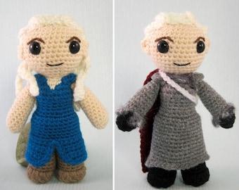 Daenerys Targaryen Amigurumi Pattern PDF - Crochet Pattern