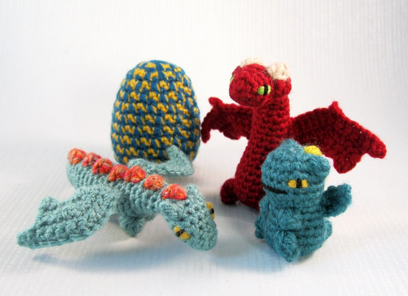 Mini Pets in Eggs  Dragon Hatchling Amigurumi Patterns PDF  image 0