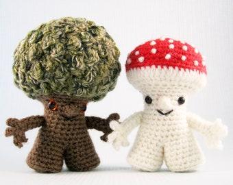 Tree Folk and Fungus Folk Amigurumi Pattern PDF - Crochet Pattern