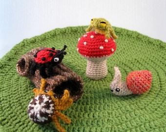 Mini Pets - Snails, Bugs and Frogs Amigurumi Patterns PDF - Crochet Pattern
