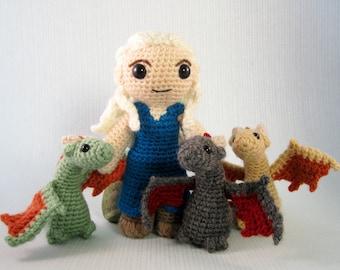 Daenerys Targaryen and Dragons Amigurumi Patterns PDF - Crochet Patterns