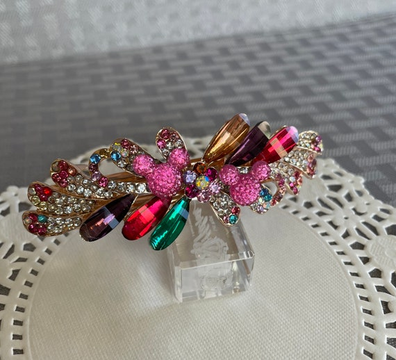 Mickey Inspired Barrette-Rainbow Colors-Dapper Days-Wedding Bridesmaids-Disney Wedding
