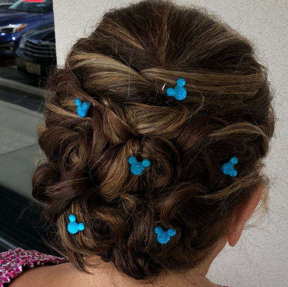 Hidden Mickey Hair Swirls-Disney Wedding-Debs Twisties-Coils Spins Spirals-Custom Colors